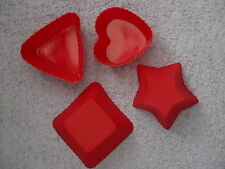 3x Square Heart Triangle or Star Silicon Moulds for Soap, Candle Making, Baking