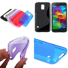 SAMSUNG GALAXY S5 i9600 S LINE DESIGN SILICONE GEL PHONE CASE COVER