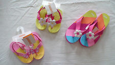 NWT GYMBOREE SWIM BUTTERFLY FLORAL RAINBOW FLIP FLOPS SHOES SUMMER YOU PICK