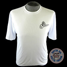 Discraft CRANK Rapid-Dry Short Sleeve Disc Golf T-Shirt - WHITE Choose Your Size