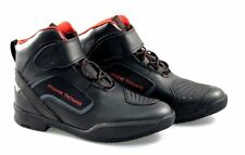 FRANK THOMAS MX021 PACE SHORT ANKLE TOURING MOTORCYCLE MOTORBIKE  BOOTS BLACK