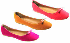 NEW WOMENS LADIES BALLET DOLLY FLAT BALLERINA PUMPS SHOES SIZES 3-8