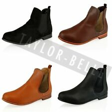 WOMENS LADIES CHELSEA LOW HEEL RIDING WINTER ANKLE BOOTS SHOES SIZES
