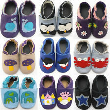 Infant Toddler Baby Boy Girl Soft Sole Leather Crib Shoes Newborn to 24 Months