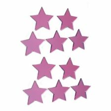 Pink Star Mirrors,  Crafting & Decorative Packs, 3mm Acrylic Mirror & Stickers