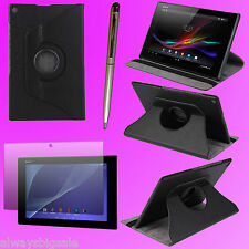 """360 Rotating Case Cover Stand for 10.1"""" Sony Xperia Z2 Tablet + Film + Pen F197S"""
