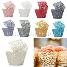 12pcs Filigree Vine Cupcake Wrappers Wraps Cases Wedding Birthday Decorations