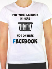 PUT YOUR LAUNDRY IN HERE - Social Media / Gossip / Novelty Themed Womens T-Shirt