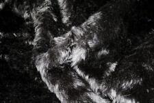 Super Luxury Faux Fur Fabric Material - PLUSH BLACK