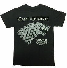 Licensed HBO'S Game of Thrones Men's Winter Is Coming T-Shirt Brand New Black