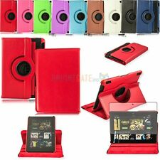 For Kindle Fire HDX 7.0 New PU Leather 360 Swivel Smart Case Cover+ Free Film