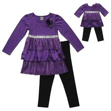 """Dollie & Me Sz 8  and 18"""" Doll Matching outfit clothes fit american girl"""