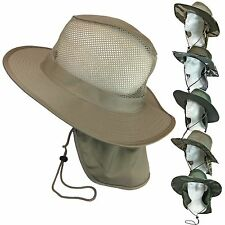 Military CAMO Cool Mesh Boonie Bush Fishing Hiking Neck Flap Sun Cover Hat Cap
