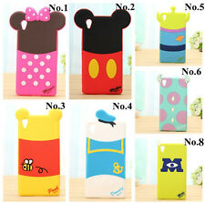 3D Cartoon disney Shadow Silicone cover for Sony Xperia Z/Z1/Z2 cell phone case