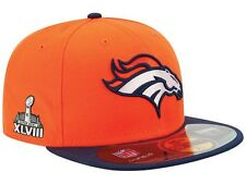 New Era Denver Broncos NFL Super Bowl XLVIII On Field Patch 59FIFTY Cap Hat $40
