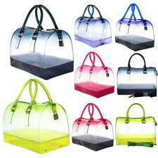 Candy Jelly Bag Two Tone Hombre Print See Through With Shoulder Strap Bag