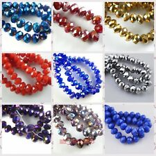 200Pcs 3x2mm Faceted Glass Crystal Loose Beads Spacer Rondelle Finding 52Color