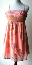 Anthropologie ARYEH vintage boho coral sundress w/ shimmering fabric & sequins