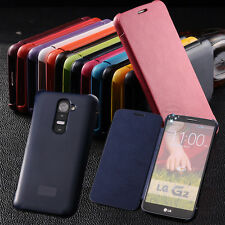 Genuine Synthetic Luxury Leather PU Case Flip Cover For LG G2 Optimus G2 D802 HT