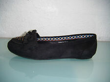Ladies Ex Chainstore Black Moccasin Shoes.  Size 7 Only Remaining