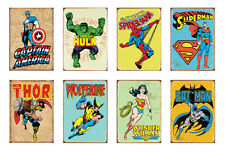 MARVEL SUPER HERO POSTER Comic Fan AVENGERS Vintage 30x21cm GLOSSY THICK Prints