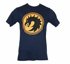 Ender's Game Mens T-Shirt - Dragon Army Circle Orange Logo Dark Na...