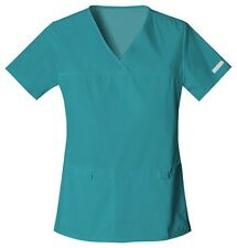 Cherokee Scrubs Flexibles V Neck Scrub Top 2968 Teal