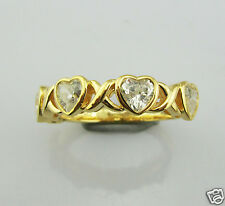 Genuine Sterling Silver xoxo style ring with CZ Rhodium or 18K gold plated