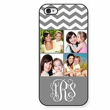 Personalized Picture Case For iPhone 5 5S 4 4S Picture Chevron Case Monogrammed