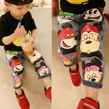 New Fashion Kids Jeans 2-7Years Boys Girls Pants Kids Nine Points Jeans 122