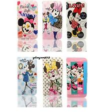Cute Minnie Mouse PU Leather Flip Stand Card Holder Wallet Case For iPhone 5S SE