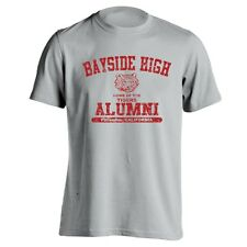 BAYSIDE HIGH ALUMNI cool funny retro tv show school costume MENS T-Shirt GRAY