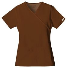 Cherokee Scrubs Flexibles V Neck Scrub Top 2824 Chocolate Brown