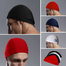 New Brand Mens Fabric Swim Hat Swimming Cap 4 colors Free Size # YM01