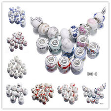 10pcs Murano Porcelain Ceramics Spacer Beads For DIY Jewelry Bracelets Making