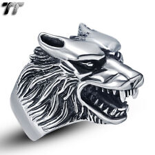 High Quality TTstyle 316L Stainless Steel Wolf Ring Size 7-15 (RZ04)