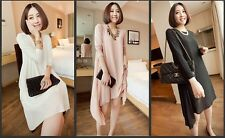 2014 new fashion summer dress chiffon 5-sleeve solid dress for pregnant women
