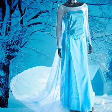 Frozen Queen Princess Elsa Deluxe Women Dress Party Cosplay Costume Xmas Gift