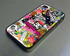 Stickerbomb Rubber Cover Case fits iPhone 4/4s 5/5s Galaxy S3 S4 S5