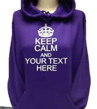 KEEP CALM AND CHOOSE YOUR TEXT HOODIES VARIOUS COLOURS & SIZES - NEW
