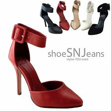 New Women Buckled Ankle Strap Stilettos Pointed Toe Heels Any Occasion Shoes