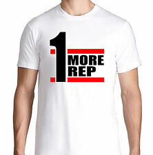 ONE MORE REP FIT BENCH GYM FUNNY CROSSFIT HEALTH RUNNING WORKOUT TRAIN T SHIRT