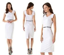 Black Halo Jackie O Belted Sheath white Women Sexy Evening Party Dress New