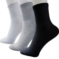 10 Pairs Lot Men Cosy Cotton Sport Socks 3 Colors New