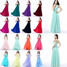 New Chiffon Clearance Long Sweetheart Formal Prom Dresses Evening Party Gowns