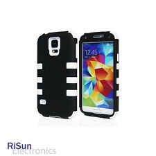 For Samsung Galaxy S5 screen protector/Heavy Duty White Hybrid Rugged Hard Case