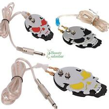 Pro High Quality Tattoo Power Supply Foot Pedal Control Skull Black/Red/Yellow