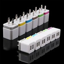 Colorful 2.1A+1.0A Dual USB 2-Port AC Wall Adapter Charger For iphone Samsung