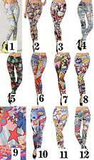 Reg-Plus Size Stretch Waist Poly/Spandex Skinny Leg Fitted Legging Tights/Pants