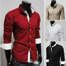 2014 Men's Luxury Long Sleeve Dress Shirts Formal Casual Comfy Shirts Tops S~XL